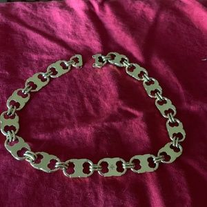 """Tory Burch Gemini Link Nwot Necklace 17"""" Excellent"""